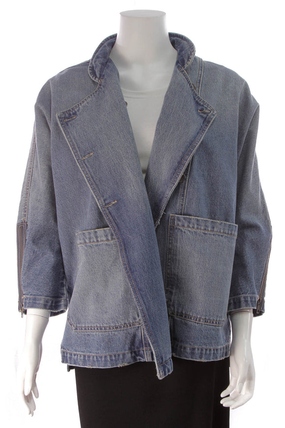 Current Elliott Denim Jacket Blue Size Medium