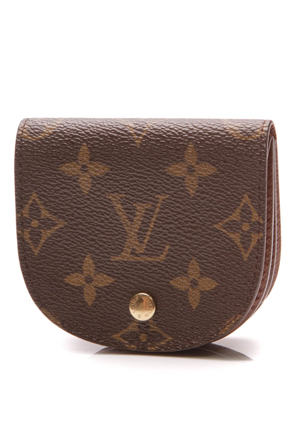 Louis Vuitton Porte Monnaie Gousset Coin Purse Monogram Brown