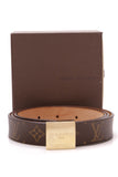 Louis Vuitton Ceinture Carree Belt Monogram Size 44 Brown