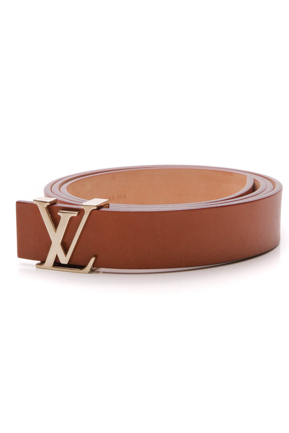 Louis Vuitton LV Initials 30mm Belt Tan Size 44