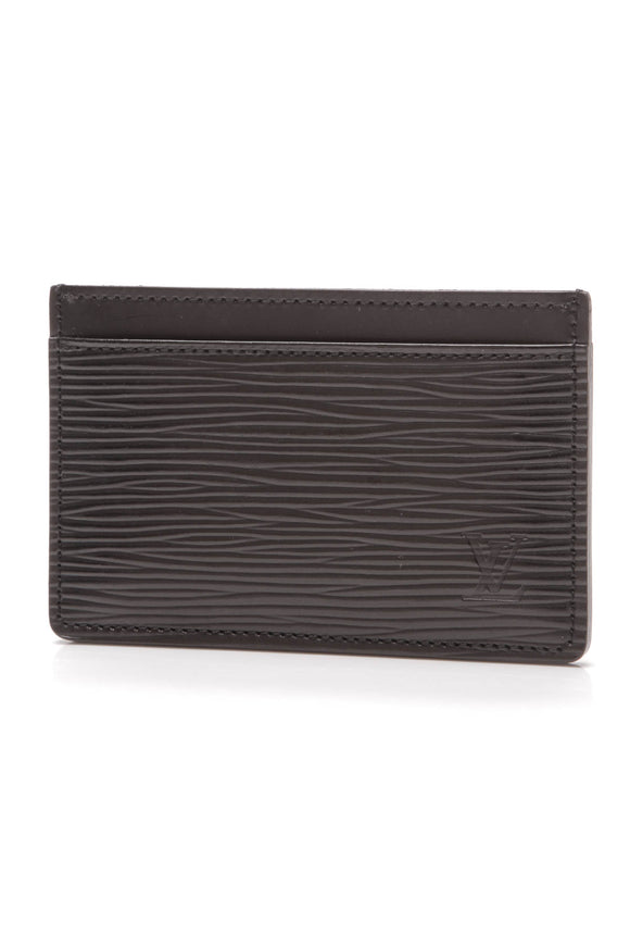 Louis Vuitton Epi Card Holder Black