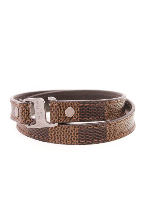 Louis Vuitton Double Wrap Bracelet Damier Ebene Brown