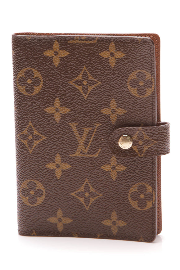 Louis Vuitton Small Ring Agenda Cover Monogram Brown