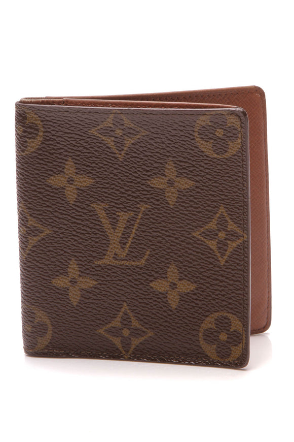 Louis Vuitton Vintage Bifold Wallet Monogram Brown