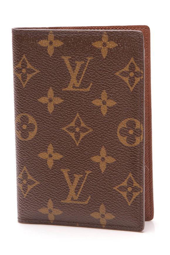 Louis Vuitton Passport Cover Monogram Brown