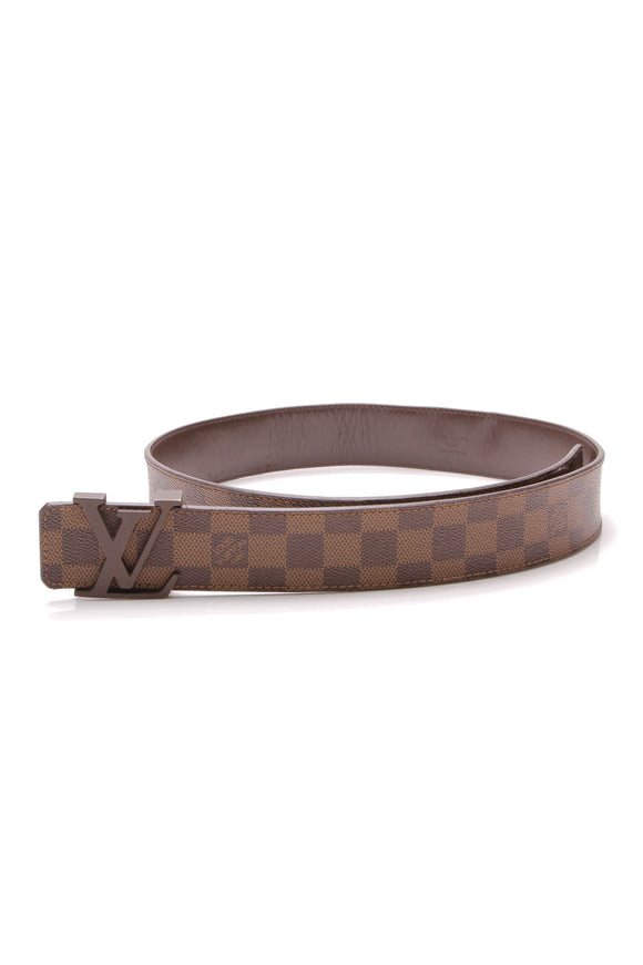 Louis Vuitton Initiales 40mm Belt Damier Ebene Size 36 Brown