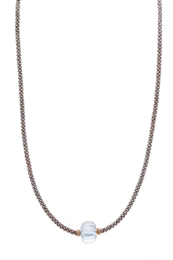 Lagos Caviar Forever Topaz Melon Bead Rope Necklace Silver
