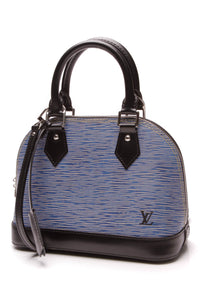 Louis Vuitton Epi Alma BB Bag Denim Blue Black