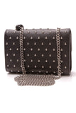 Gucci Miss Bamboo Studded Small Shoulder Bag Black