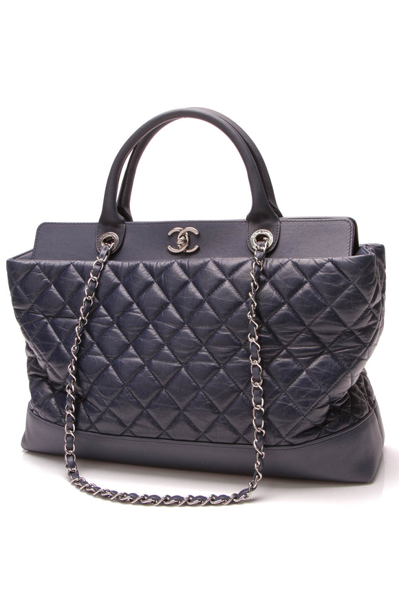 Chanel Be CC Tote Bag Blue