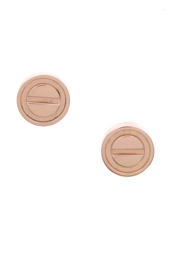 Cartier Love Stud Earrings Pink Gold