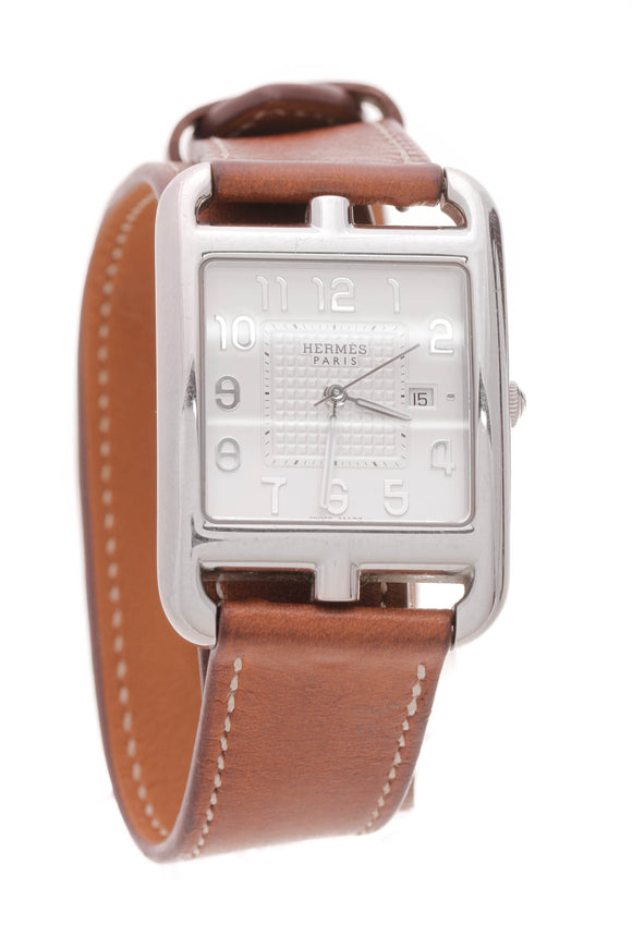 Hermes Cape Cod 23mm Watch Steel Brown