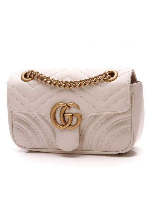 Gucci GG Marmont Mini Bag White Matelasse