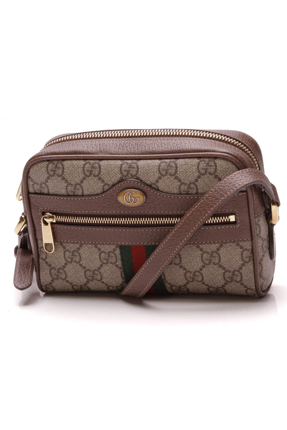 Gucci Ophidia Mini Bag Supreme Beige