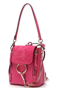 Chloe Faye Mini Backpack Fuchsia Pink