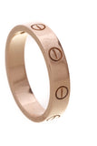 Cartier Love 1 Diamond Ring Pink Gold Size 6.25