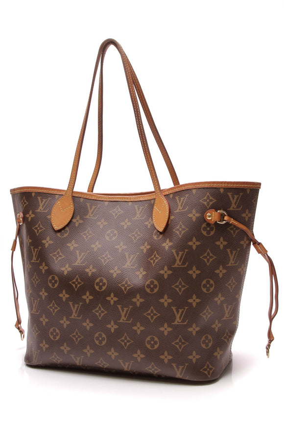 Louis Vuitton Neverfull MM Tote Bag Monogram Brown