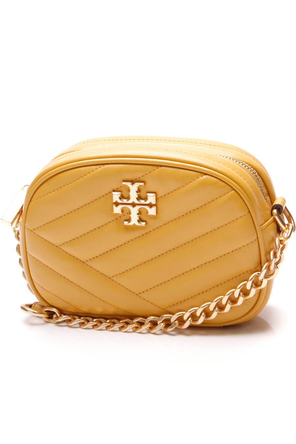 Tory Burch Kira Quilted Crossbody Bag Yellow