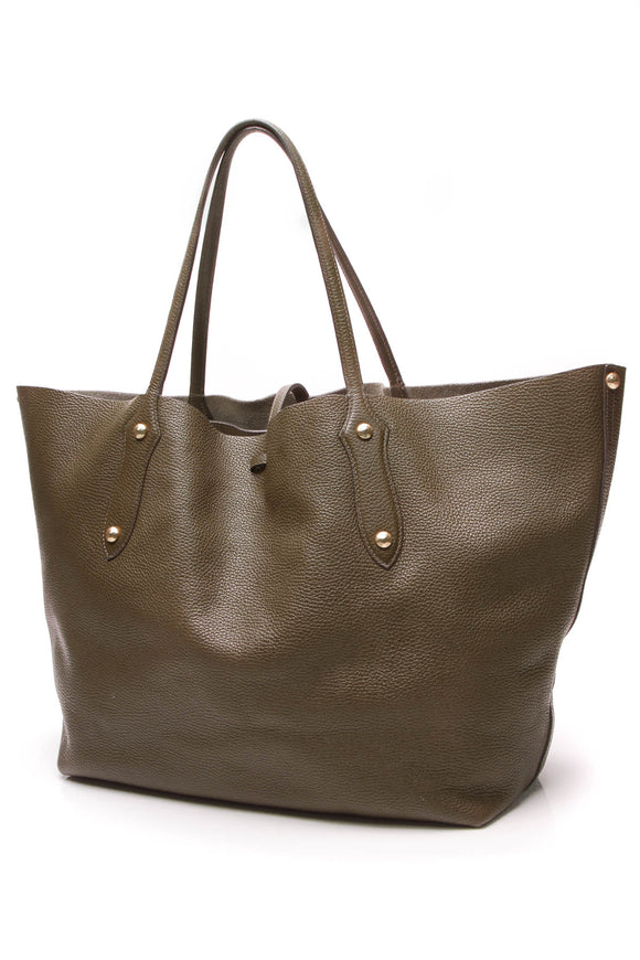 Annabel Ingall Isabella Large Tote Bag Military Olive Green