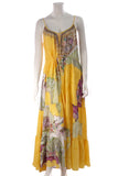 Camilla The Golden Years Maxi Dress Yellow Size Large