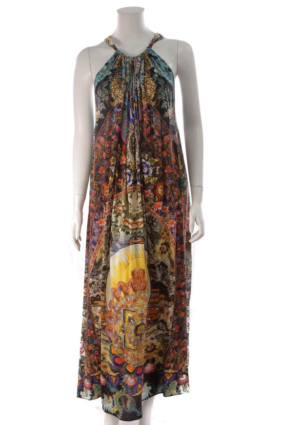 Camilla Printed Drawstring Dress Multicolor