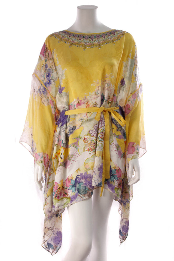 Camilla Mellow Muse Short Kaftan Dress Yellow
