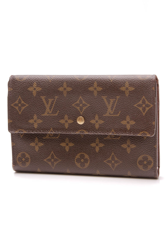 Louis Vuitton Passport Organizer Wallet Monogram Brown