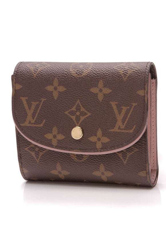 Louis Vuitton Ariane Wallet Monogram Rose Ballerine Brown Pink