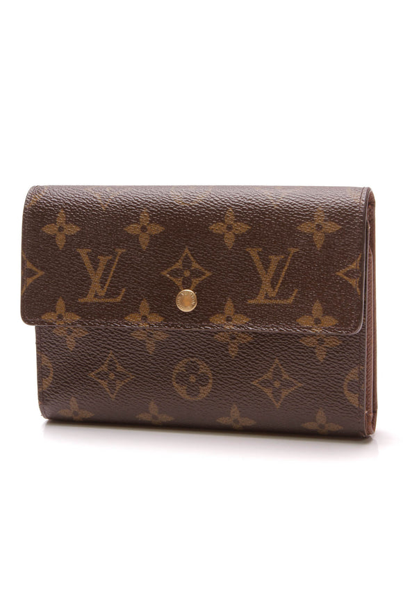 Louis Vuitton Porte-Tresor Etui Papiers Wallet Monogram Brown