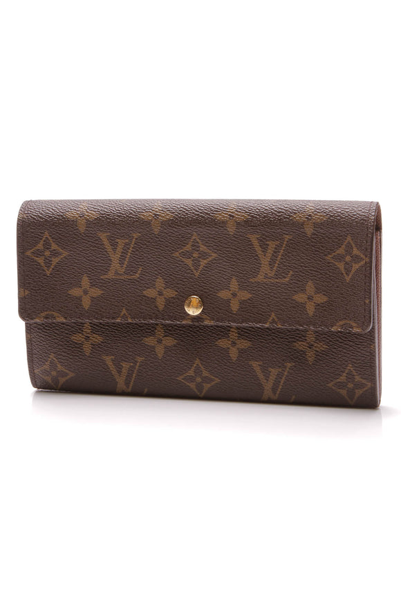 Louis Vuitton Sarah Wallet Monogram Brown