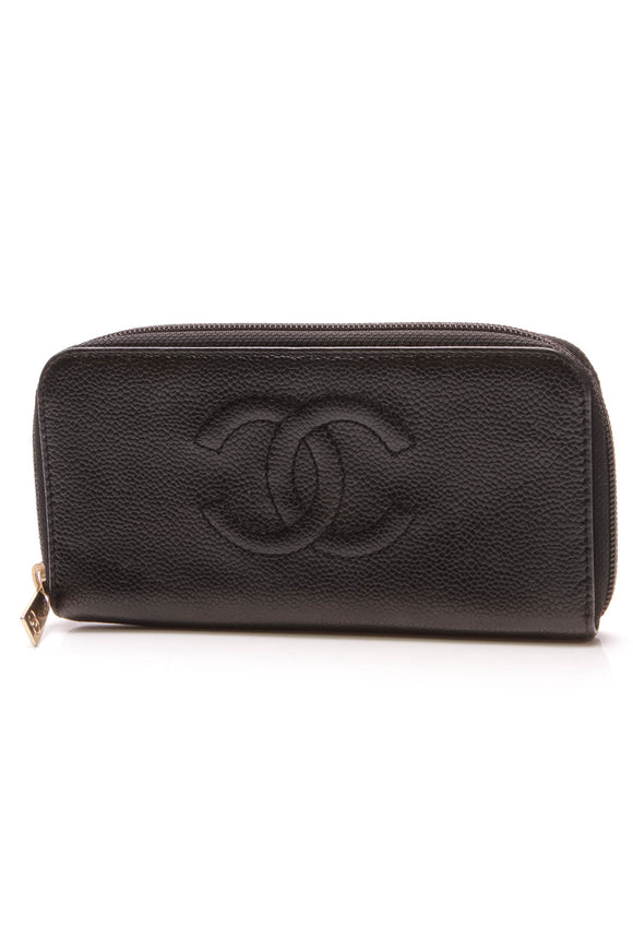 Chanel Timeless Zippy Wallet Black Caviar