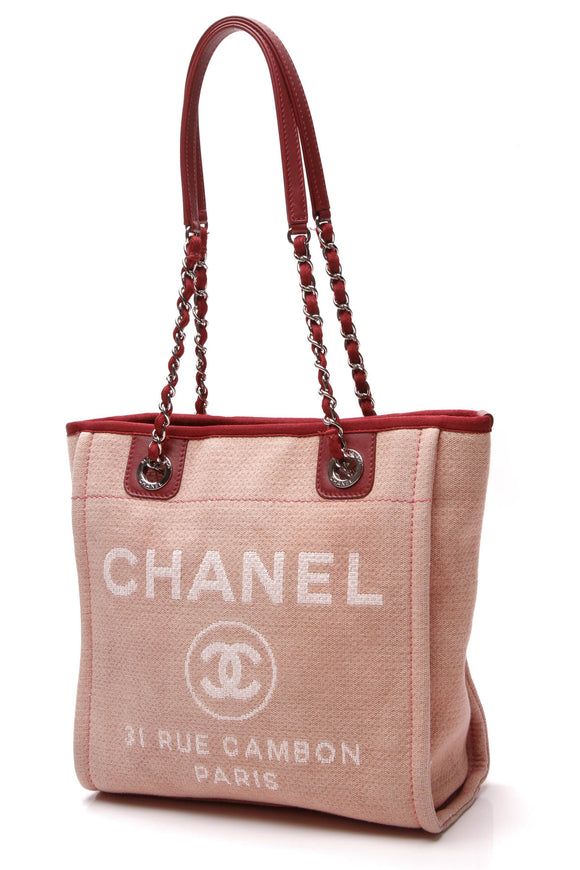 Chanel Deauville Small Tote Bag Pink