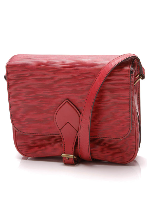 Louis Vuitton Vintage Epi Cartouchiere MM Bag Red