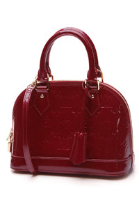 Louis Vuitton Vernis Alma BB Bag Indian Rose Pink Red