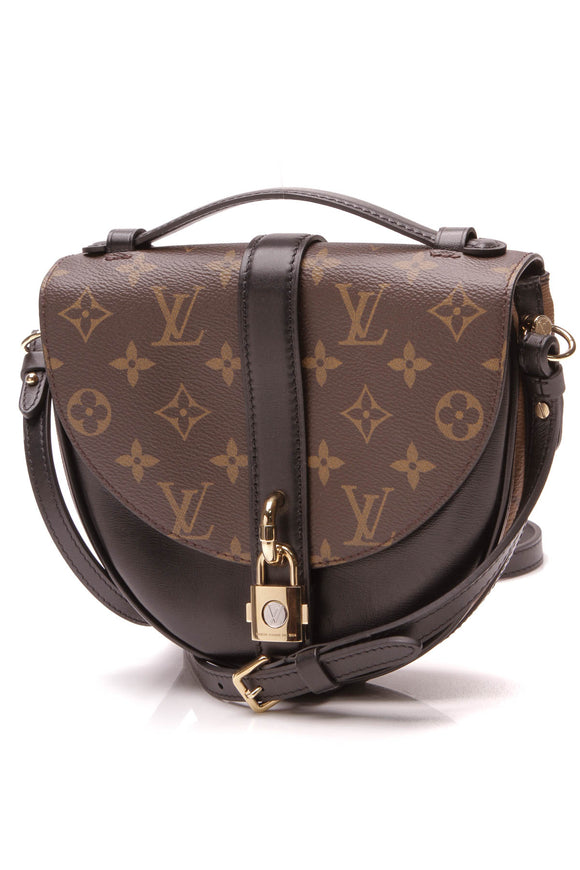 Louis Vuitton Chantilly Lock Bag Monogram Reverse Monogram Brown Black