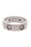 Cartier Love 6 Diamond Band Ring White Gold Size 6.75