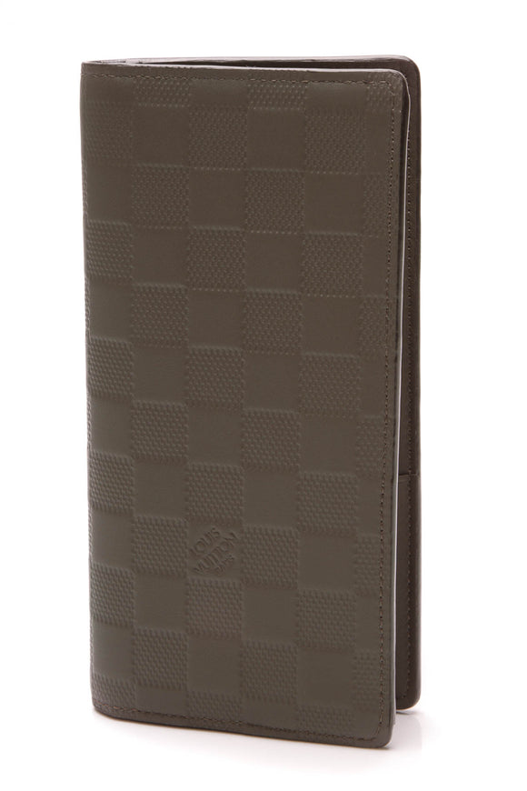 Louis Vuitton Brazza Wallet Meteor Damier Infini Gray