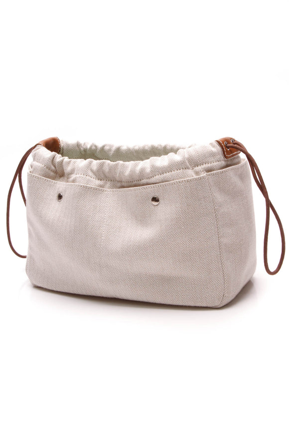 Hermes Fourbi 25 Pouch Natural Canvas Beige