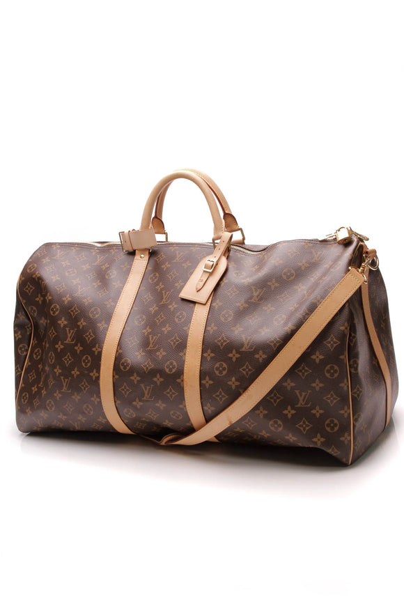 Louis Vuitton Keepall Bandouliere 60 Travel Bag Monogram Brown