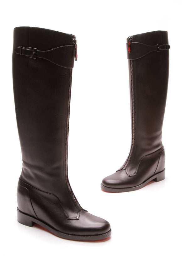 Christian Louboutin Foresta Zip Front Boots Black Size 36