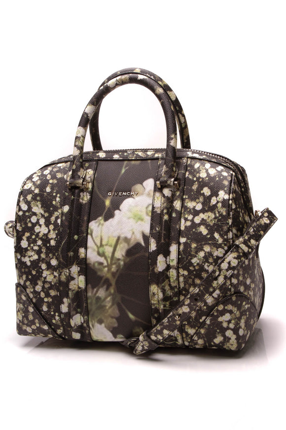 Givenchy Lucrezia Baby's Breath Duffle Bag Black Green