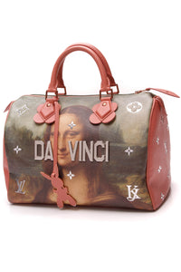 Louis Vuitton Master's Collection da Vinci Speedy 30 Bag Coral