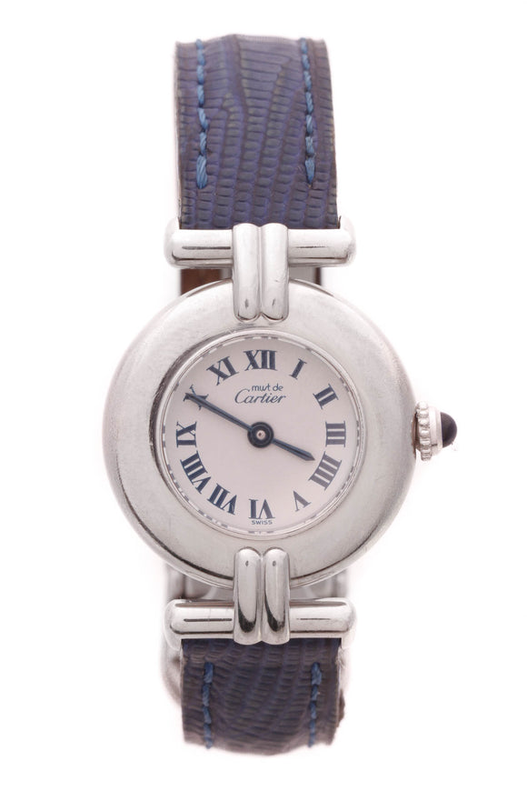Cartier Must de Cartier Watch Silver Blue Lizard