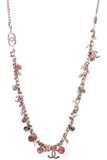 Chanel Bead Charm Long Necklace Silver