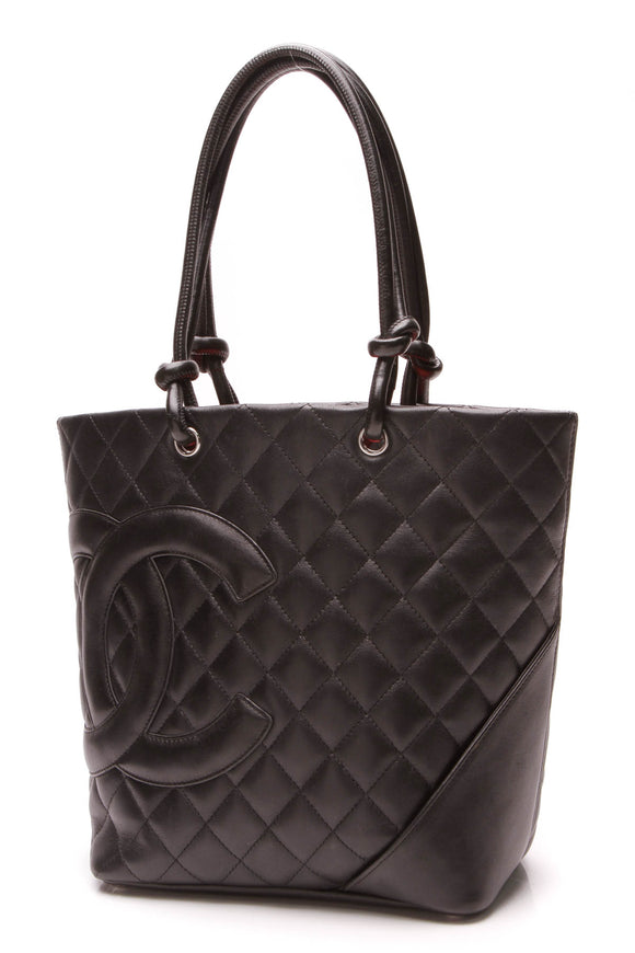 Chanel Cambon Ligne Small Tote Bag Black
