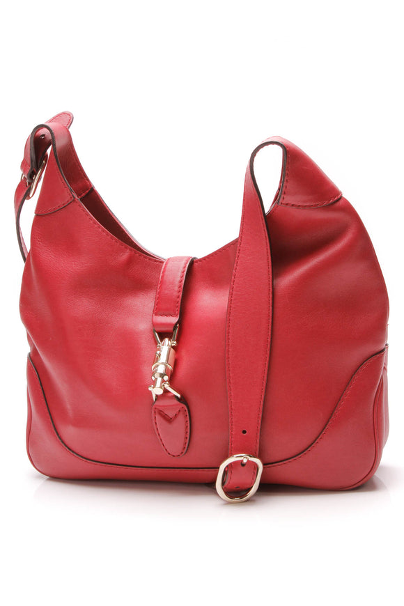 Gucci New Jackie Medium Shoulder Bag Red