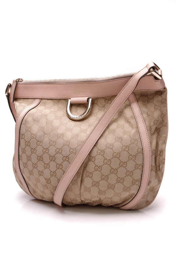 Gucci D-Ring Messenger Bag Pink Signature Canvas