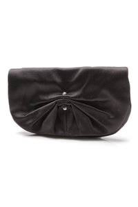 YSL Yves Saint Laurent Satin Evening Clutch Bag Black