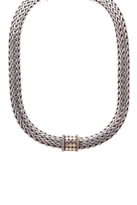 John Hardy Dot Classic Chain Necklace Silver Gold