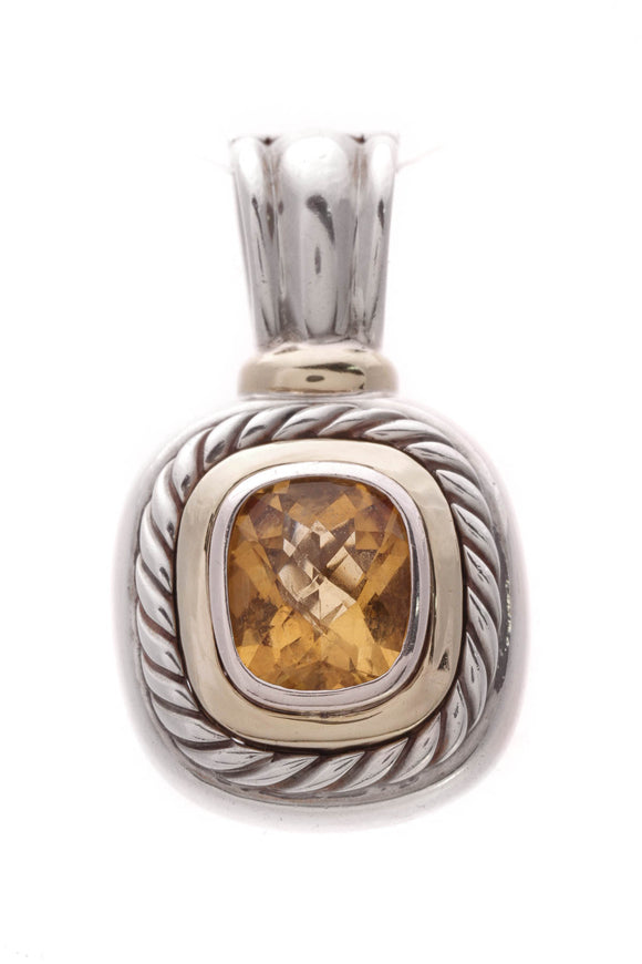 David Yurman Citrine Albion Pendant Silver Gold